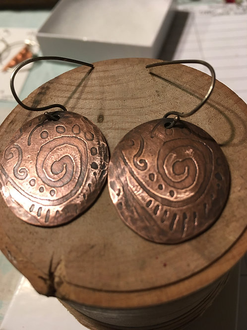 Printed copper medallions