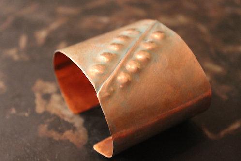 Bumpy copper cuff