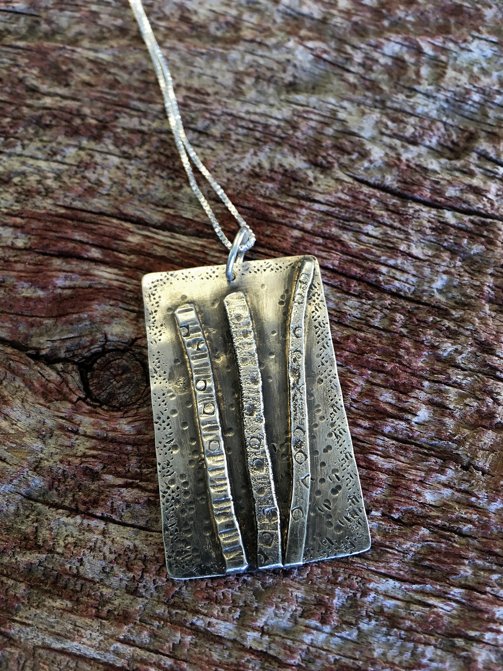 Birch tree necklace sterling silver