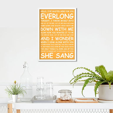 Foo Fighters - Everlong Typography Tribute