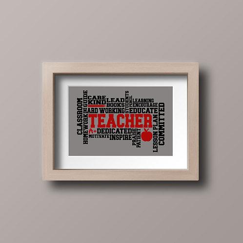 Teacher Word Art