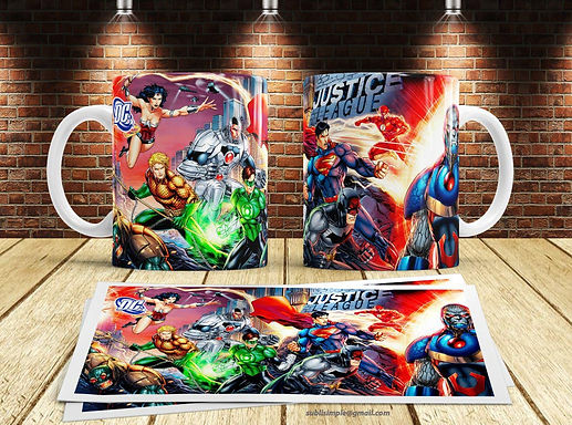 D.C Comic Mugs pack 1