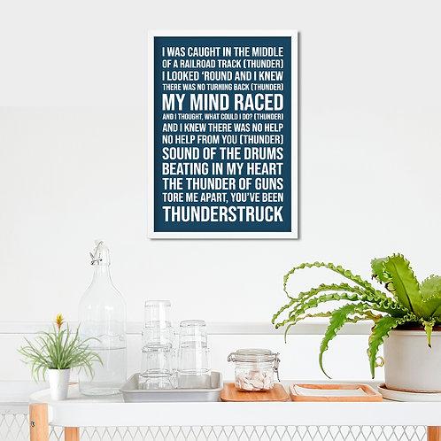 AC/DC - Thunderstruck Typography Tribute