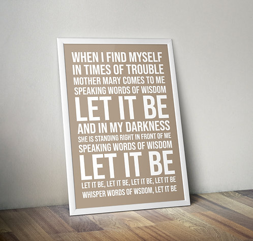 The Beatles - Let it be Typography Tribute