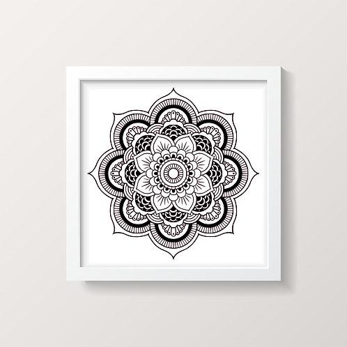 Framed Mandala 6