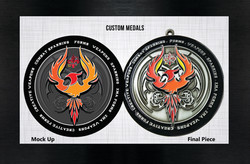 Custom medal web