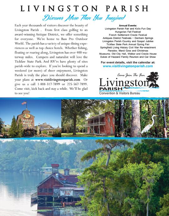 Livingston Parish Tourism print ad