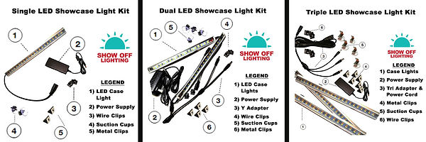 Best LED showcase lighting for jewelry