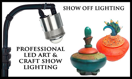 Beautiful LED craft show lighting to illuminate your craft show display