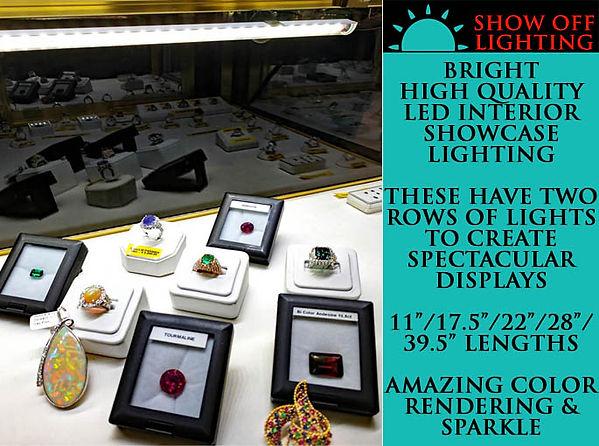 Breathtaking showcase lighting for jewelry displays