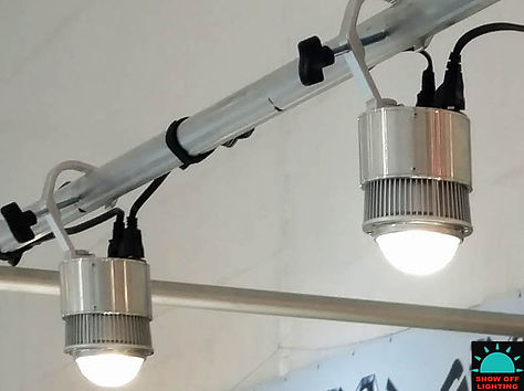 The BEST pipe & drape jewelry display lights