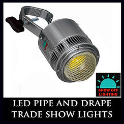 Easiest pipe and drape light setup you will ever have!!