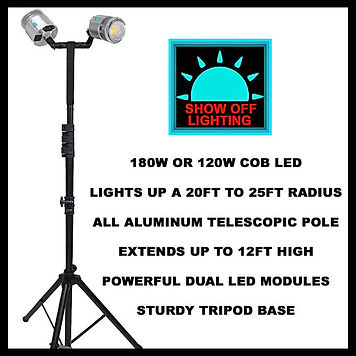 180W OR 120W TRADE SHOW TENT LIGHTS