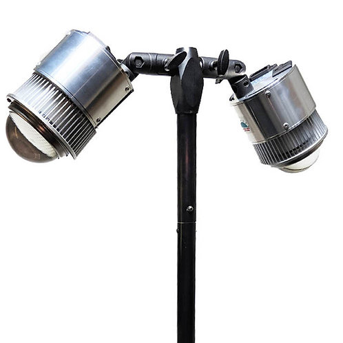 DUAL ADJUSTABLE HEAD TABLE CLAMP LIGHTS