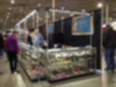 Craft shows, art shows and trade show displays LED track lighing. JCK, GJX, AGTA trade show lights.