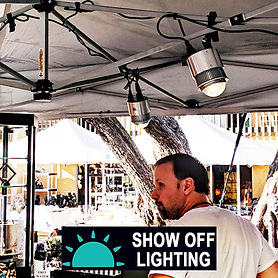 Fast setup, bright LED trade show lighting.