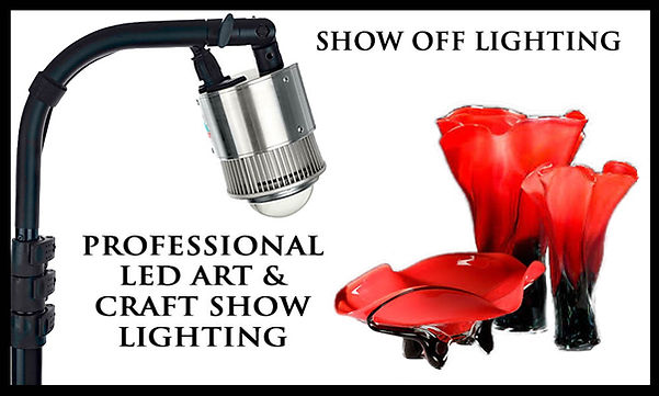 Fast setup & bright craft show tent lighting