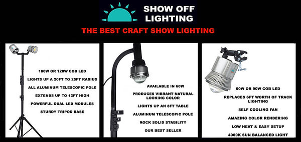 Craft show lighting tips