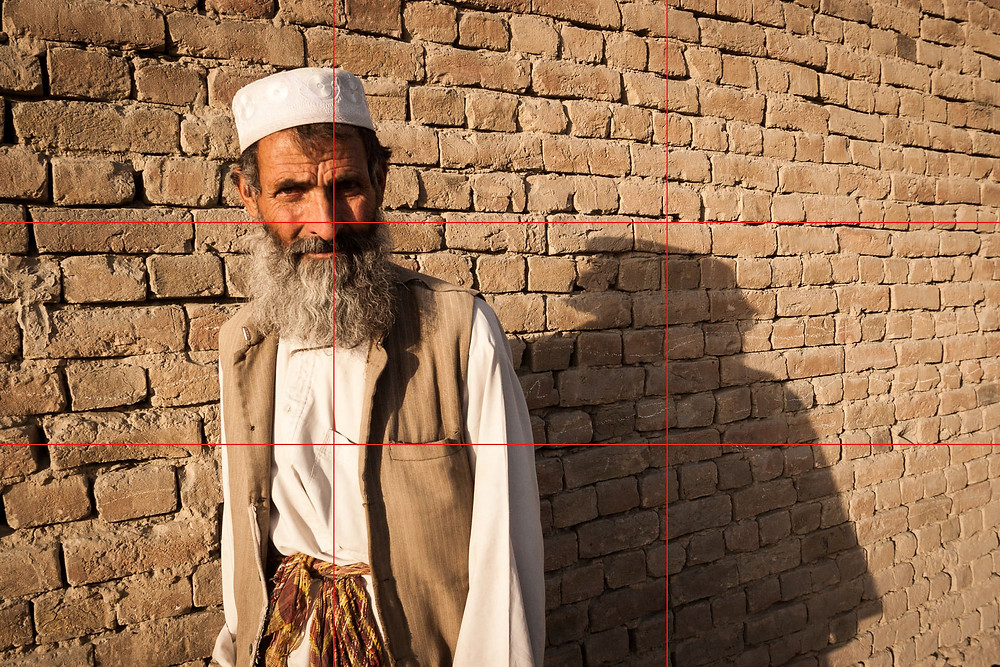 Afghan man posing for photograph in Kabul, Afghanistan.