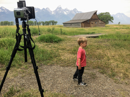 How to photograph landscapes while on the road with kids....