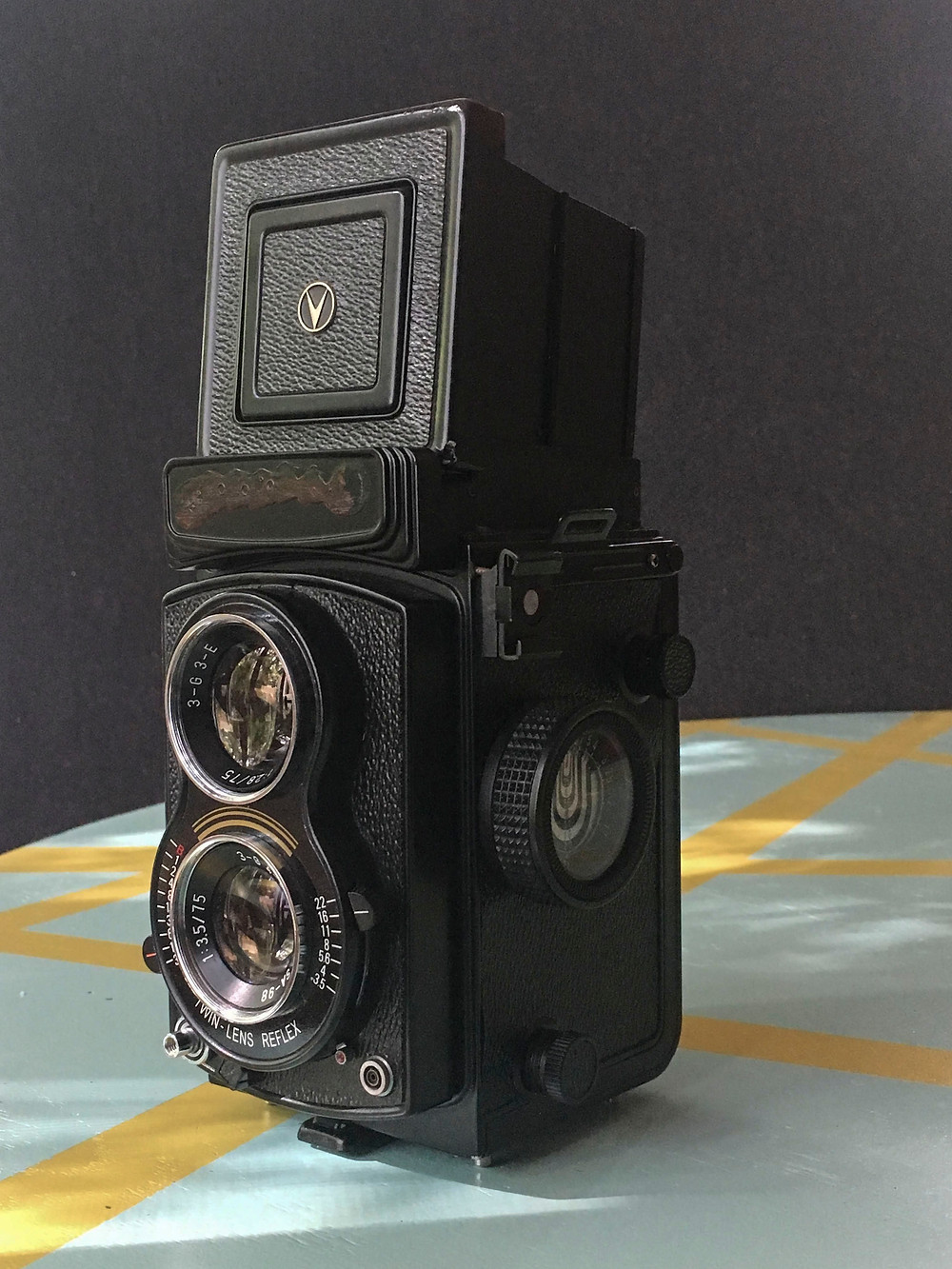 camera, black, twin lens reflex, film, analog, photography
