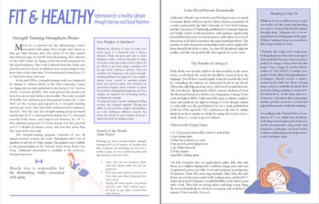 Fit and Healthy Newsletter