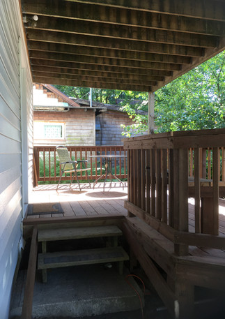 Deck and patio entrance