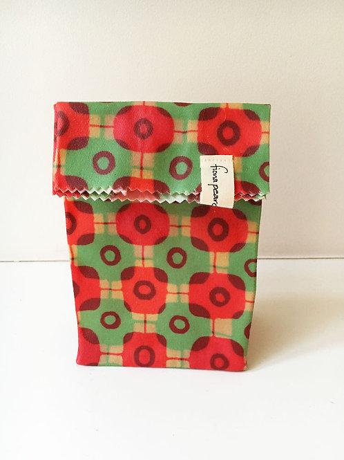 Small Waxed Bag - Tartan Green