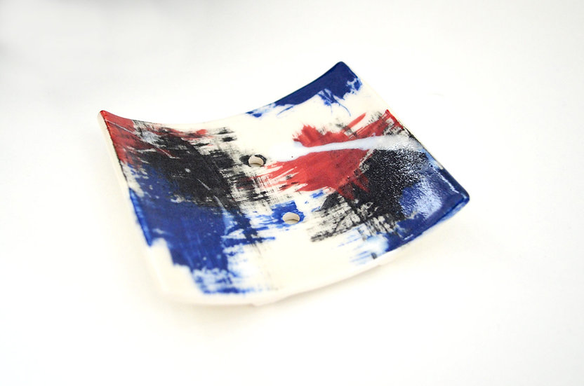 Ceramic Soap Dish - ode to the USA