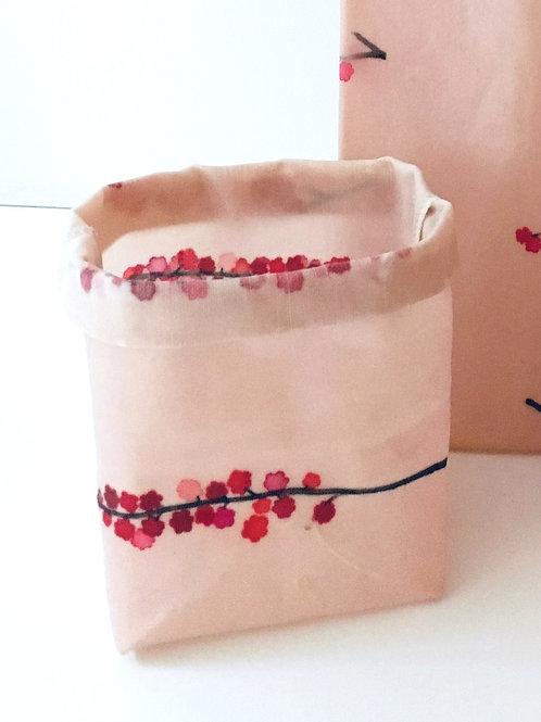 Square Waxed Bag - Cherry Blossom