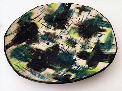 Large Green Stoneware Bowl