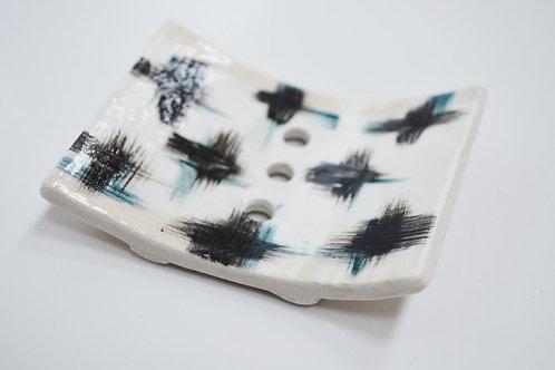Mini Stoneware Soap Dish
