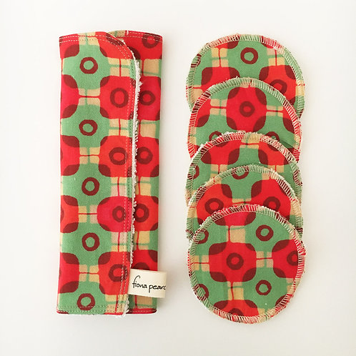 Washcloth gift set - green and red