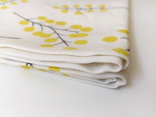 Tea Towel, Golden Wattle White