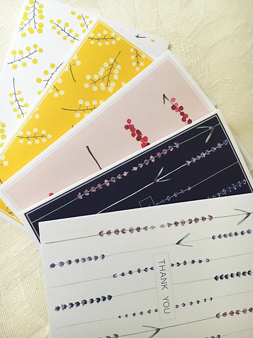 Set of 5 Cards with envelopes