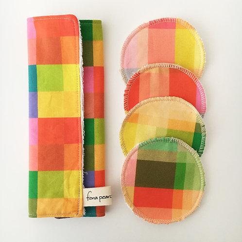 Washcloth gift set - colour check
