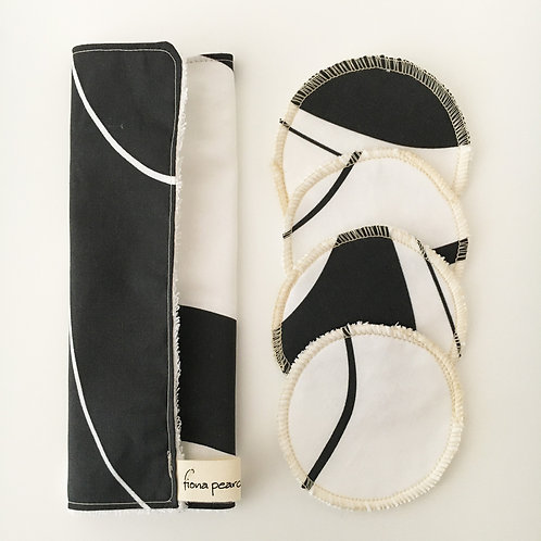 Washcloth gift set - black and white