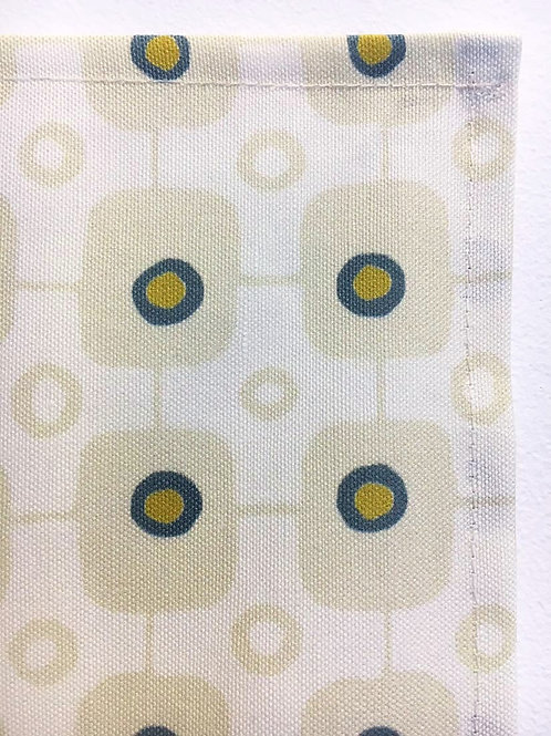 Tea Towel, Tartan Teal & Mustard Light