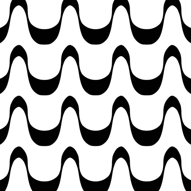 white and black wave
