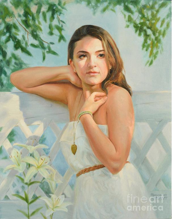 She Said Yes. Surprise Proposal Portrait. Oil on Canvas