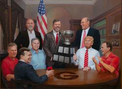 Trophy Celebration. Oil on Canvas