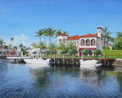 House at Las Olas. Oil on Canvas