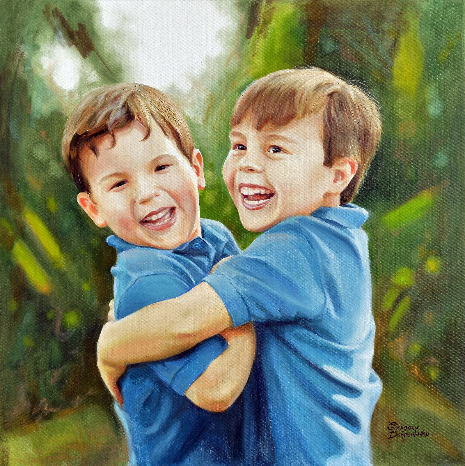 Brotherly Love. Oil on Canvas
