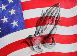 Pray for America. Oil on Canvas. To buy a print, click below