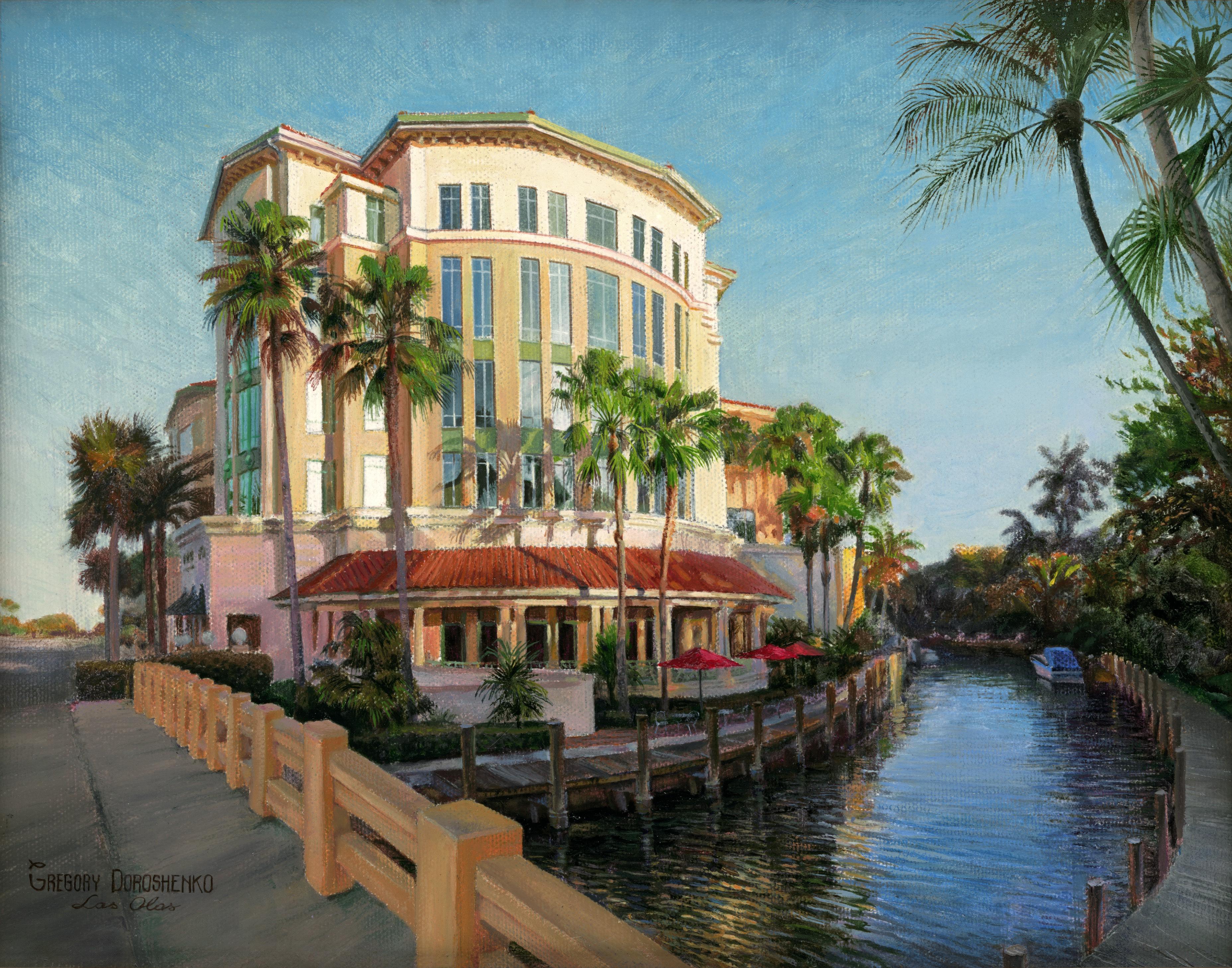 Building at Las Olas. Oil on Canvas