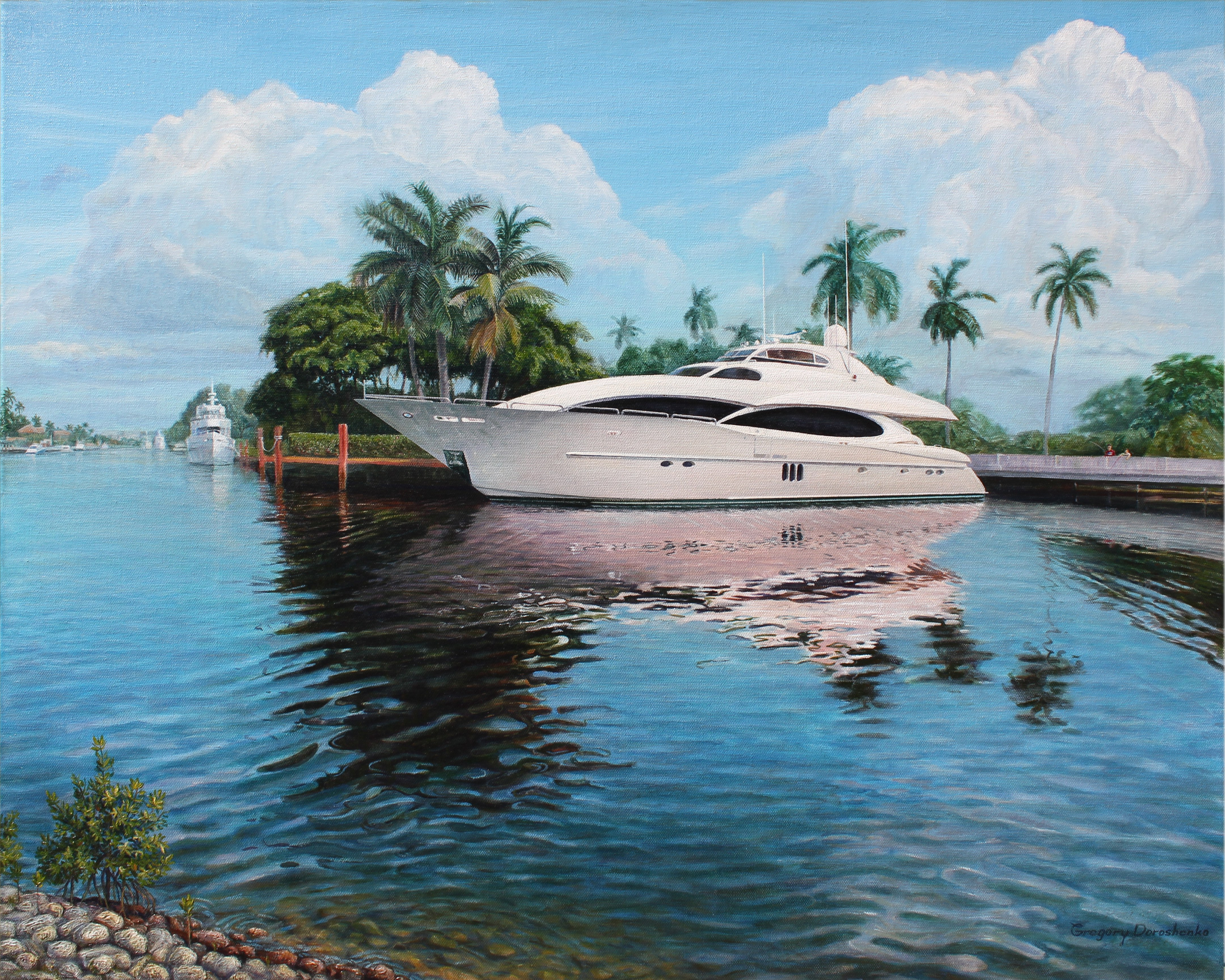 The Yacht. Oil on Canvas. To buy a print, click below