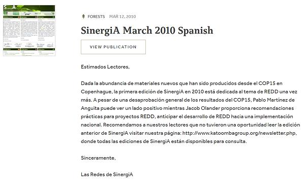 capa espanhol sinergia 2010.png