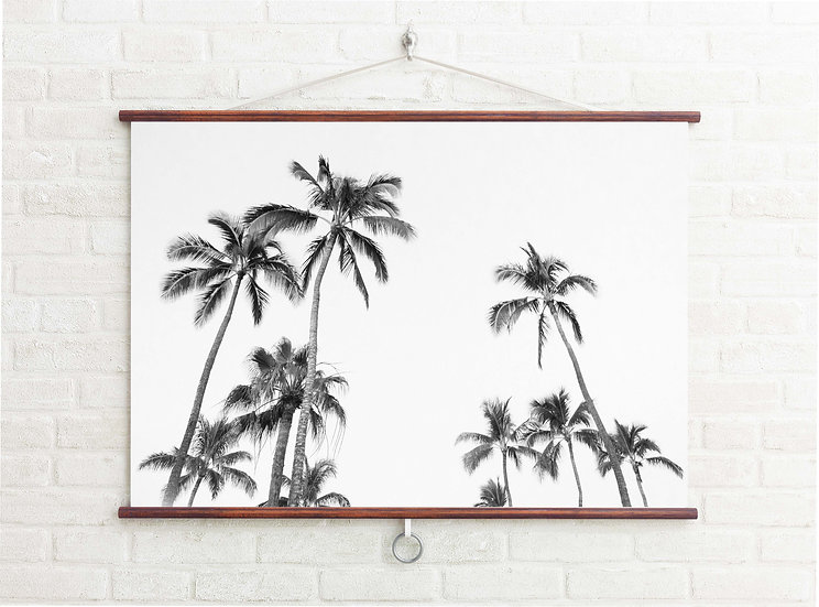 WALL BANNER - PALM PARTY ( BW )