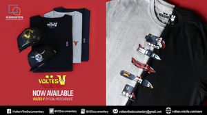 The TOYCON-released Voltes V shirts has three designs  a comic-style  design f97f42b4625