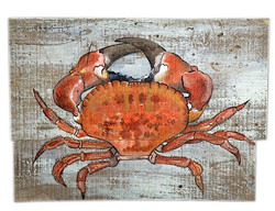 Reclaimed Wood Crab Painting